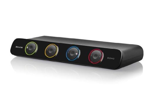 Belkin F1DS104LEA New Soho 4-Port KVM (Umschalter, USB, VGA, inkl. 1,8m Kabel) - Belkin Kvm-audio-kabel