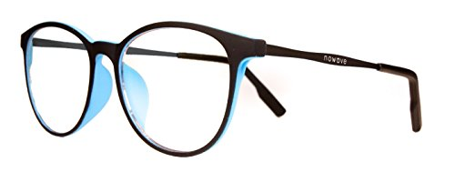 NOWAVE Neutralbrille für PC, Tablet, Smartphone, TV und Gaming. Beseitigt Ermüdung und Reizung der Augen. Ultra-leichtes Metallgestell. Accessoire für Büro und Schule/ Studium. Entspannende Brille mit 40% Schutz vor blauem Licht und 100%-igem UV-Schutz. PC-Bildschirm-Filter. ITALIAN STYLE 2017 - Safer
