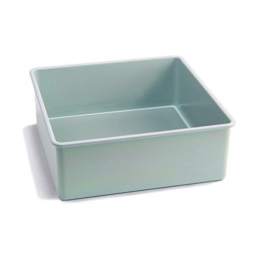 Jamie Oliver Bakeware Range Non-Stick, Square Cake Tin, Carbon Steel/Harbour Blue, 8 inch/20 cm sq