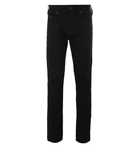 True Religion Geno No Flap Black Relaxed Slim Denim Jeans-40
