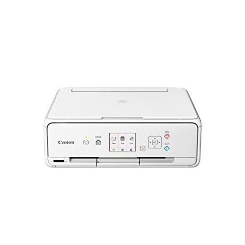 Canon PIXMA TS5051 Farbtintenstrahl-Multifunktionsgerät (Drucken, Scannen, Kopieren, 5 separate Tinten, WLAN, Print App, 4.800 x 1.200 dpi) weiß (Tinte Drucker Weiße)