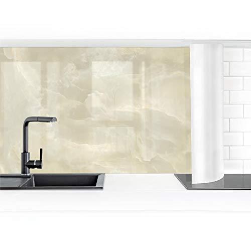 Bilderwelten Küchenrückwand Folie selbstklebend Onyx Marmor Creme 70 x 250 cm Premium