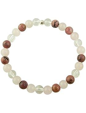 Edelstein Armband - Erzengel Chamuel - mit 925er Silber Perle, Heilsteinarmband, Stretcharmband