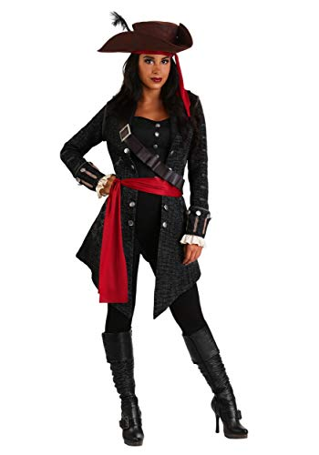 Womens Fearless Pirate Fancy Dress Costume Large
