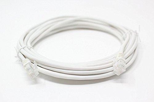Speed Filter (dabbersit Premium Qualität Lang Länge ADSL Kabel (RJ11) 5m/10m/15m/20m mit vergoldete Kontakte, für Modem/Router/High Speed Breitband-Verbindung zu Handy- oder Micro Filter)