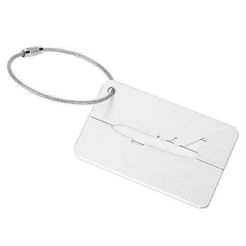 5-stück Gepäck (Alomejor Koffer Tags 5 Stücke Aluminiumlegierung Reisegepäck Gepäck Koffer Tag ID Identifikator Name Tag Adresse Etiketten für Reise Geschäftsreise(Silber))