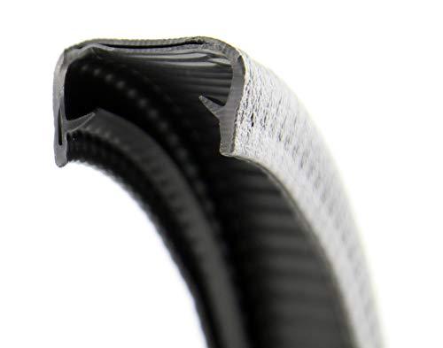 KS17-19S Kantenschutzprofil von SMI-Kantenschutzprofi - PVC Gummi Klemmprofil mit Stahleinlage - Kantenschutz - Schwarz - einfache Montage, selbstklemmend ohne Kleber Klemmbereich 17-19 mm (5 m) -