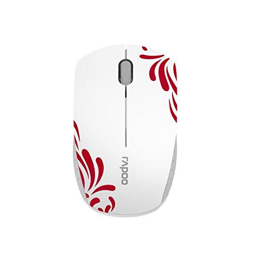 Rapoo 3300P+ kabellose Super Mini Maus (Nano-USB für PC, Laptop, Macbook) weiß