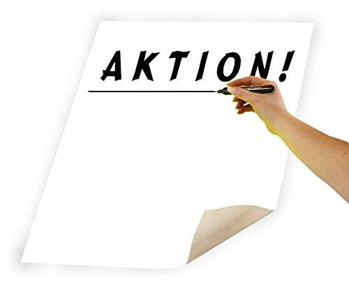 folia 65700 - Plakatkarton, ca. 48 x 68 cm, 10 Bögen, 380 g/qm, einseitig weiß gefärbt - ideal zum Basteln oder Erstellen von Plakaten und Anzeigen
