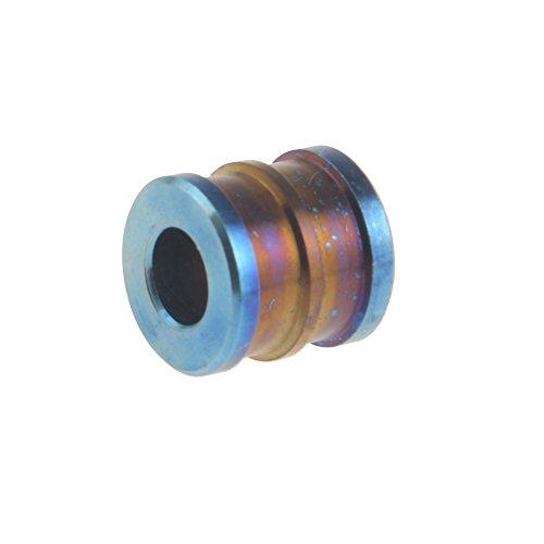 Titan Lanyard Pull Bead Anhänger für EDC Seil Kupplung Reißverschluss Blau -