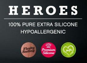 Heroes – 19 cm Silikondildo für lustvolle Stunden 0129 - 3