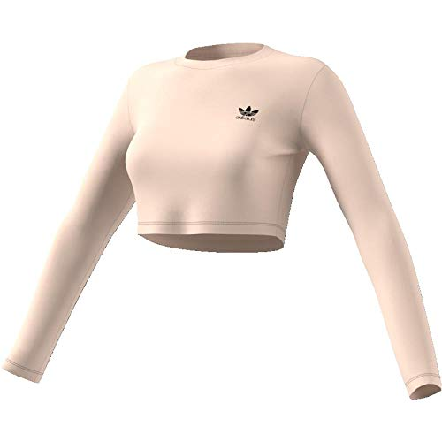 adidas Damen Styling Complements Cropped Longsleeve Linen 38