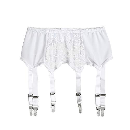 Usmley regolabile reggicalze sexy giarrettiera per calze autoreggenti 6 cinghie elastiche
