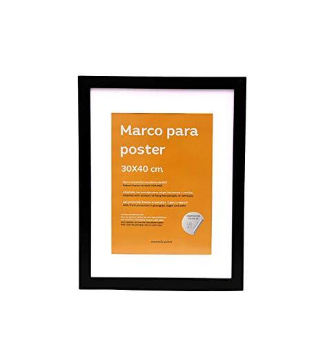 Nacnic Marco Negro tamaño 30x40cm paspartú. Marco