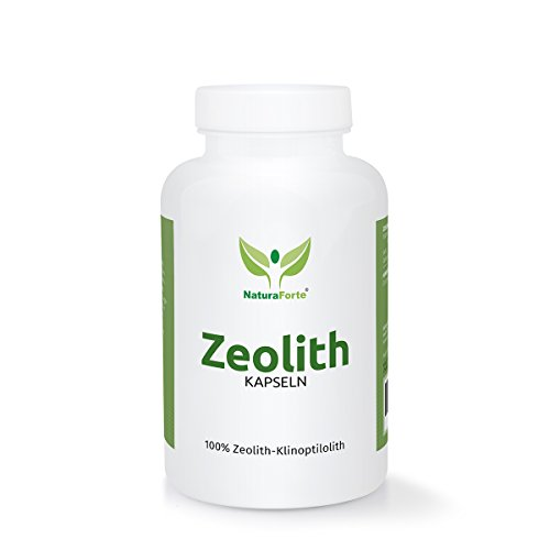 NaturaForte Zeolith Klinoptilolith Kapseln 200 Stück Pulver extra fein in Premiumqualität