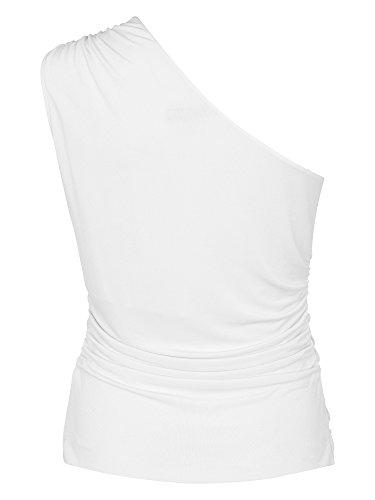 ESCADA Femmes Top asymétrique Blanc Cassé
