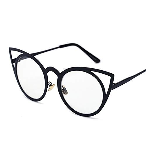 Yiph-Sunglass Sonnenbrillen Mode Graceful Cat Eyes Sonnenbrille für Damen UV-Schutz für das Fahren von Ferien-Sommer-Strand. (Farbe : White)