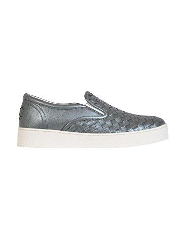 bottega-veneta-femme-370760vb0x12015-gris-cuir-chaussures-de-skate