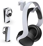 سماعة رأس مع خطاف لبلاي ستيشن 5، بتصميم مصغر مع شريط دعم من الألومنيوم لجهاز سوني بلاي ستيشن 5، أبيض
