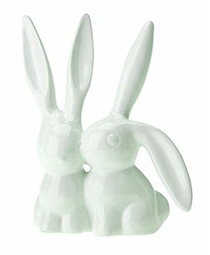 312AE1kb16L - BEST PET STORE Set of two ceramic bunny rabbit ring holders stands PRICE Review UK