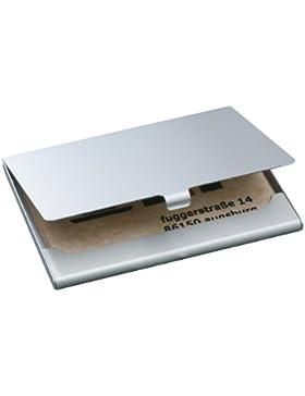 Sigel VZ135 Tarjetas de presentaciónetui 91x58mm ALU Plata, para 15 Karten