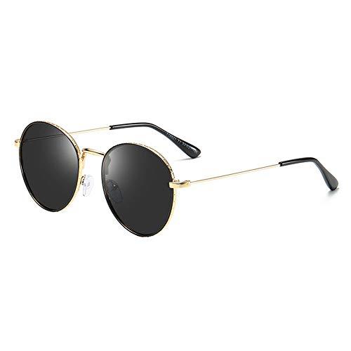 LEIAZ Kinder Polarisierte Sonnenbrille, Metall Runden Rahmen Vintage Bonbonfarbene Sonnenbrille Mode-Hipster