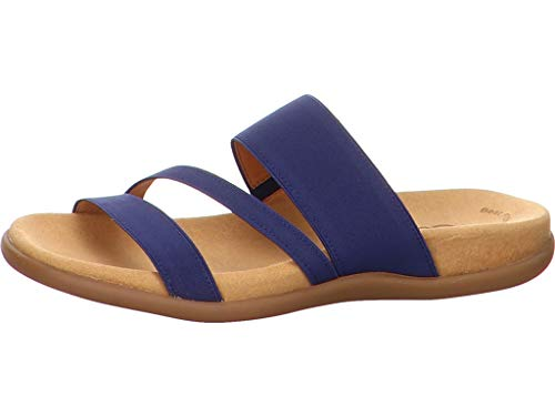 Gabor 83.702-86 Damen Pantolette Textilmaterial hinterlegter Gummizug trendig, Groesse 38, blau