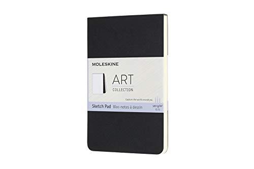 Moleskine 8058647626819 Skizzenblock, 120g Papier Pocket/A6, Kartoneinband Schwarz