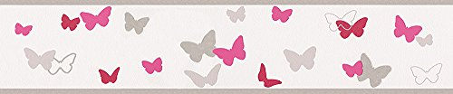 Esprit Kids Bordüre Sweet Butterfly Kindertapete 5,00 m x 0,13 m bunt rot weiß Made in Germany 302902 30290-2
