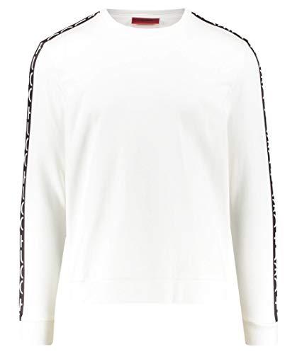 HUGO Herren Sweatshirt Doby Weiß S