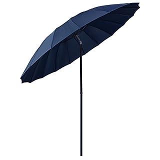 Azuma 2.5m Tilting Parasol Sun Shade Protection Garden Patio Umbrella Brolly - Navy