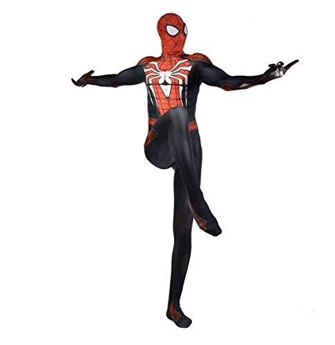 Full Spiderman Kostüm Body - POIUYT Cosplay Halloween Strumpfhosen Superheld 4 Spider-Man Siamese Strumpfhosen Weihnachten Kleidung Erwachsene Kostüm Ball Cosplay Party Zentai Kinder Parallel Universum Outfit Set Für,Child-L