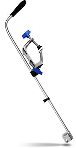 Aluminium 84 (Echolot Geberstange zur Bootbefestigung ohne Bohren, Aluminium, 84 cm lang)