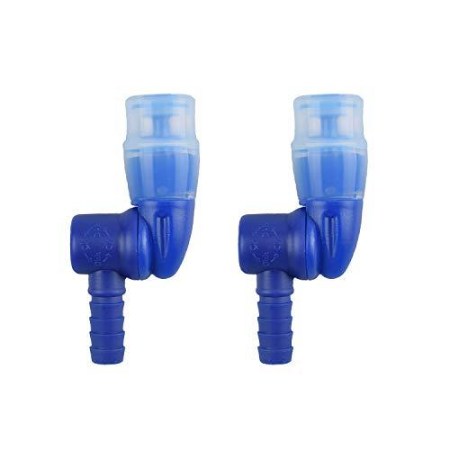 J.CARP Rotation An/Aus-Schalter Bissventil Rohrdüse Ersatz für Wasserblase, 360 ° Blau, 2 in 1 Packung