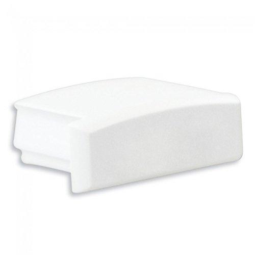 LED Profil Anser 1/2 Meter Opal Alu Eloxiert/Weiss/schwarz (Endkappe Weiß ohne Kabelausgang)