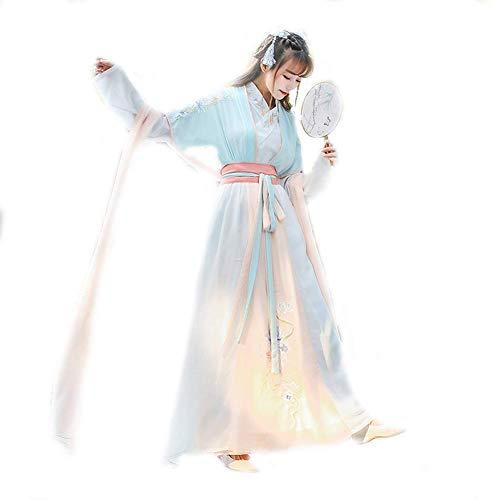 Susichou Verbesserte chinesische Kleidung, Besticktes Märchenkleid, Alltagskleidung, Damenbekleidung, Leistungskleidung (S)