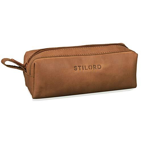 STILORD 'Linus' Estuche Escolar para lápices de Piel Bolsa o portatodo para...