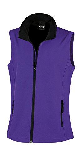 Result: Bedruckbarer Damen Soft Shell Bodywarmer R232F Purple/Black