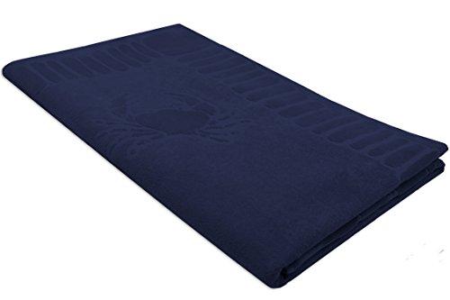 Zollner Strandtuch Strandlaken XXL ca. 100x200 aus Baumwolle, blau (weitere verfügbar)