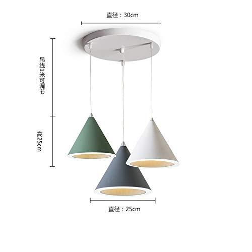 Lampada da tavolo da tavolo creativo bar bar lampada da tavolo grande combinazione di tre dischi a luce bicolore