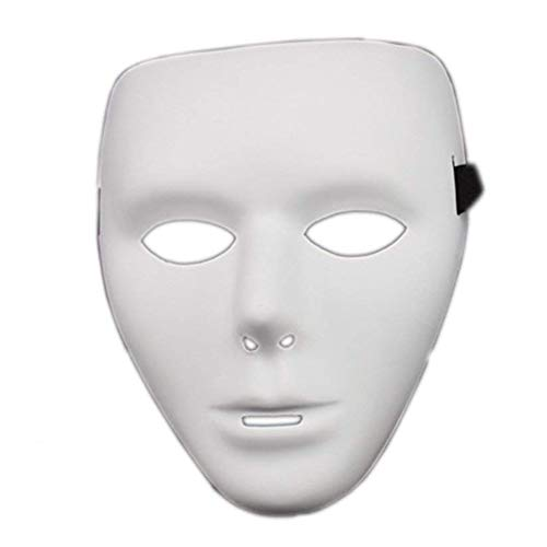 Runfon Theater-Maske weißen Männer aus premium (Maskerade Masken Kerl)
