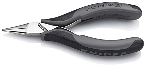 KNIPEX 35 22 115 ESD Elektronik-Greifzange ESD mit Mehrkomponenten-Hüllen 115 mm