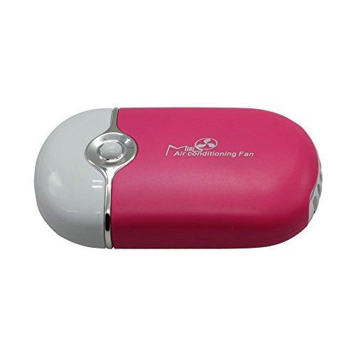 VANKER Portátil de aire acondicionado ventilador de refrigeración nuevo mini bolsillo portátil USB recargable -- melocotón