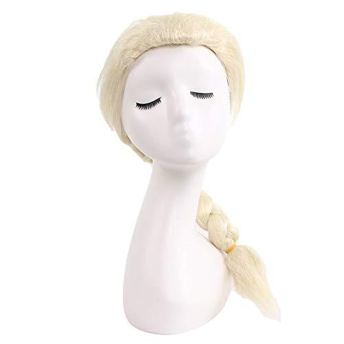 Gefrorene Elsa Stil Perücke, Anime Kinder Cosplay Perücke Hochtemperatur Seide Haar Material elegante reife Dame Perücke (Size : Children's models) -