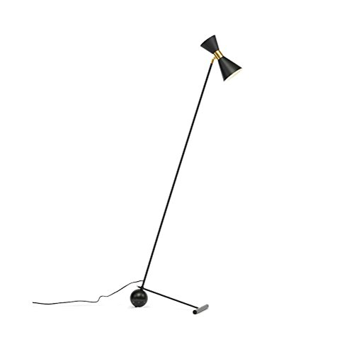 Postmodern Fashion Lampenschirm Marmor Dekorative Stehleuchte Kreative Studie Schlafzimmer Wohnzimmer Stehleuchte Schwarz 175X68 cm 0702P -