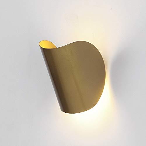 XIGE Lámpara de Pared LED nórdica, Aplique de Hierro Forjado Moderno Lámpara...