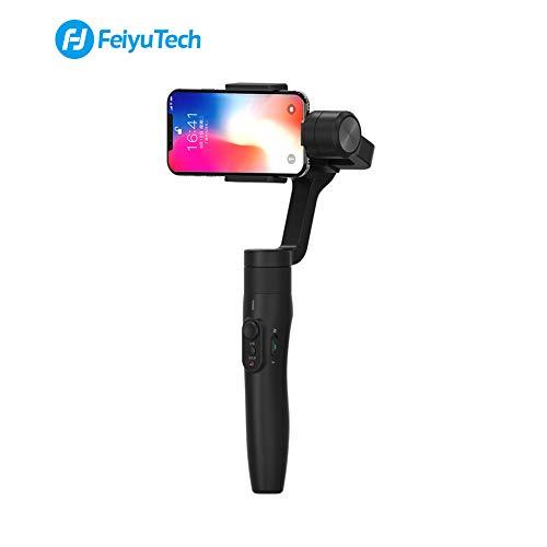 FeiyuTech Vimble 2 Handy Stabilisator 3-Achsen Erweiterbar Handkamerastabilisator Gimbal für iPhone X XS max XR 8 7 6 Plus SE, Samsung Huawei Smartphone, Dunkles Schwarz -
