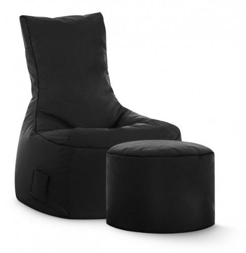 Sitzsack-Set Scuba Swing + Hocker schwarz - Einfach Ps4 Die Bewegen Sie