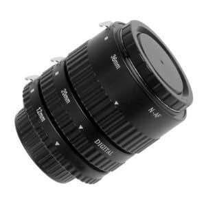 Kaavie - Tubo di prolunga automatico per Nikon - Set di tre tubi di prolunga Auto Focus: 12 mm, 20 mm, 36 mm - per Nikon D1 D2 D3 D3s D3x D4 D800 D800E D700 D300 D300s D200 D90 D3000 D3100 D3200 D5000 D5100 D7000 D80 D70 D70s D60 D50 D40 D40x etc.