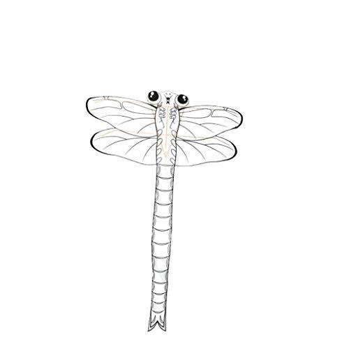 Teaching Kite Weißer Drachen Bambus Handgemalte Drachen Kinder DIY Drachen Eltern-Kind Intelligenz Spielzeug (Color : ()
